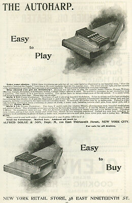 1895 Alfred Dolge Autoharp Easy to Play Easy to Buy Original Vintage Print Ad