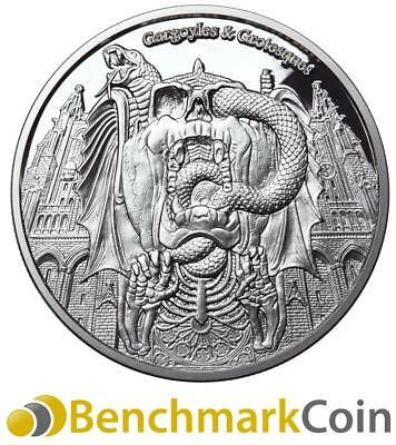 2017 Decay - Gargoyles & Grotesques Proof 1oz Silver Coin - 1000 Francs Tchad