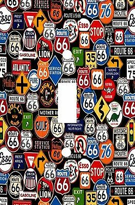 Retro Route 66 - Decorative Decoupage Light Switch Covers - Made To Order