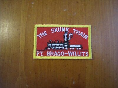 The Skunk Train, Ft Bragg, Beautiful Embroidered patch, collectible patch