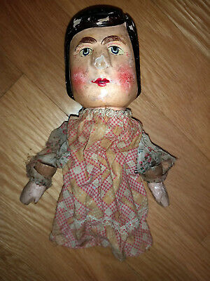 Vintage Victorian 1880s Antique German Wood Punch Judy Puppet TLC