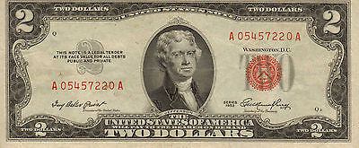 1953 US Note Red Seal, Unc High Grade Note  (Z-147)