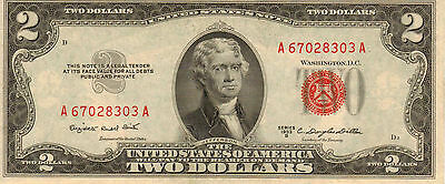 1953-B US Notes, Red Seal, Unc High Grade Note (Z-96)