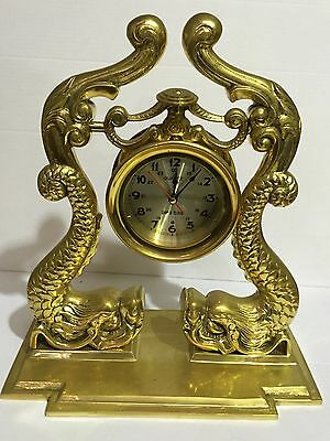 Brass Dolphin Trophy Clock