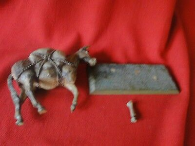 Dee Flagg Arizona Hand Carved Woodcarving Pack Mule Damaged