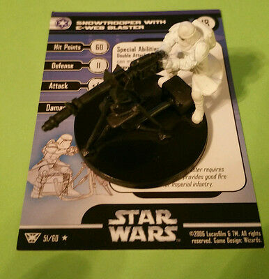 Star Wars Miniature Snowtrooper E-Web Blaster 51/60 Champions of the Force HOTH