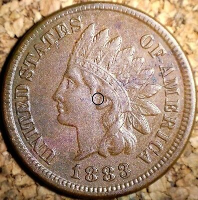 "1883 Indian Head Cent - VERY FINE++ ""CENTER DOT"", SNOW-17  (H286)"
