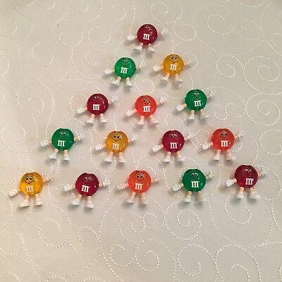 M&M's Happy Lights Christmas Patio String Figural Light Covers Set of 15 asst