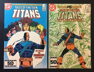 Tales of the Teen Titans 54 & 55 Set Lot Trial of Deathstroke Judas Contract NM-