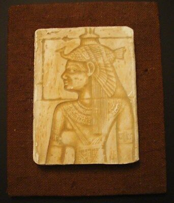 Egyptian Hieroglyphic Isis Relief Sculpture Wall Decor Chalkware?