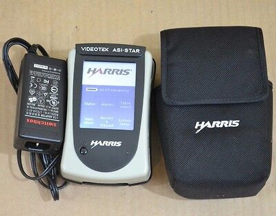 HARRIS VIDEOTEK ASI-STAR Hand Held Transport Stream Monitor ASI STAR