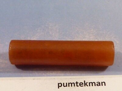 ANCIENT PRE-COLUMBIAN TAIRONA AGATE CONCAVE TUBE BEAD RARE 31.5 by 8 MM