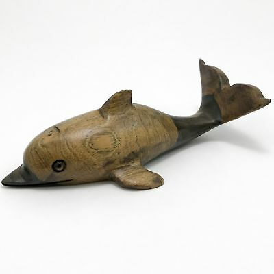 Wood Dolphin Vintage Paperweight
