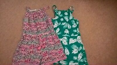 Girls Playsuits Age 6-7 great condition