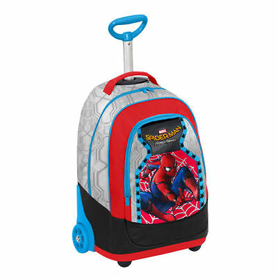 SPIDERMAN homecoming TROLLEY big scuola con pattina sfogliabile SEVEN 2017/18