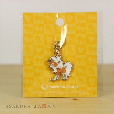 Pokemon Center Original Metal Charm Lycanroc Dusk Form Sun Moon