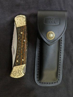 Buck 110 Knife Hunting Brand New One of a Kind Blade Art by Renwa