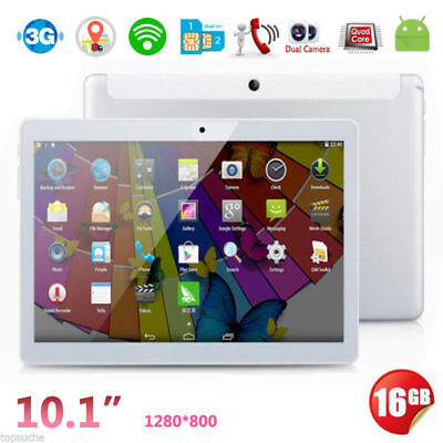 "10.1""  3G+Wifi 16Go Android 5.1 Tablette Tactile PC Quad Core 2xSIM/CAM"
