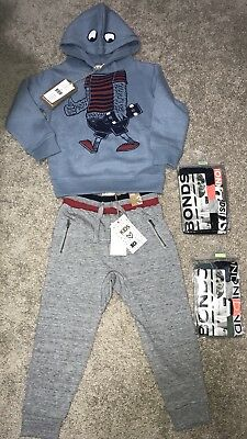 Boys Size 3 CottonOn Clothing & 2 Bonds 4pkt Undies Size3-4. Brand New.Rrp$74.80