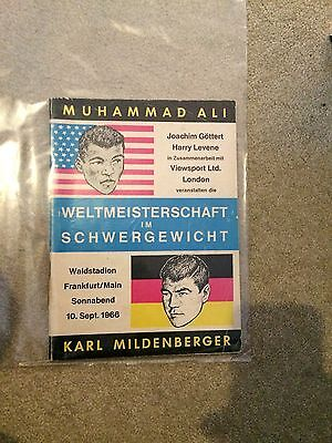 Muhammad Ali V Karl Mildenberger Onsite Programme - 10Th September 1966