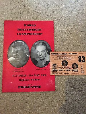Muhammad Ali V Henry Cooper Programme And Ticket - 21St May 1966