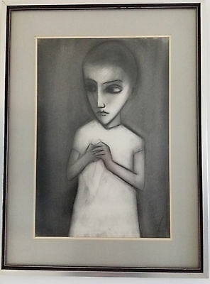 Charcoal Drawing of Girl by Robert Dickerson