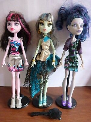 Draculaura, Frankie, Elle Eedee, Stands, Boo York, 13 Wishes Monster High Dolls
