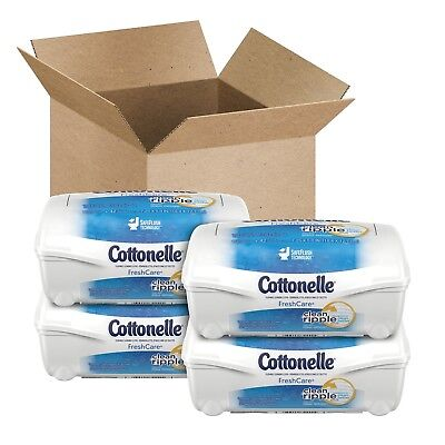 Cottonelle Flushable Cleansing Cloths Fresh Care Refill 168 Ct Wet Wipes Toilet