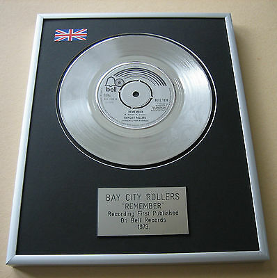 BAY CITY ROLLERS Remember PLATINUM SINGLE DISC PRESENTATION