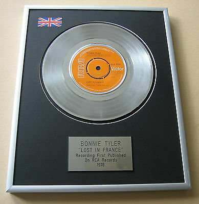 BONNIE TYLER Lost In France PLATINUM SINGLE DISC PRESENTATION