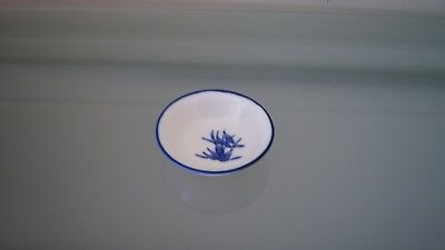 Small round blue and white porcelain dish ~