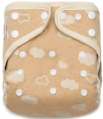 Kawaii Organic Cotton Cozy Cloud Snap Closure Adjustable Pocket Cloth Diaper