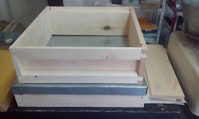 National Bee Hive Super Box Flat Pack Pine Wood New
