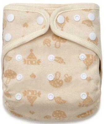 Kawaii Organic Cotton Cozy Cottage Snap Closure Adjustable Pocket Cloth Diaper