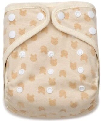 Kawaii Organic Cotton Busy Bears Snap Closure Adjustable Pocket Cloth Diaper