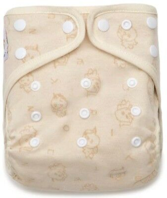 Kawaii Organic Cotton Baby Chicks Snap Closure Adjustable Pocket Cloth Diaper