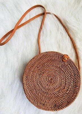 Round rattan summer basket blogger bag from Bali Indonesia