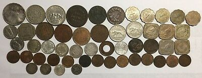 56 old British, Portugese India & EIC coins. 1835 - 1959 Incl Silver ~F - Unc.
