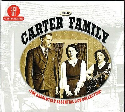 The Carter Family~The Absolutely Essential 3 CD Collection~BRAND NEW Box Set