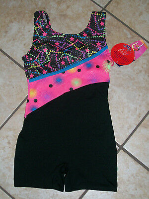 FREESTYLE DANSKIN Performance Girls' Gymnastics Biketard Leotard size S 6/6X NWT