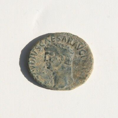 """Claudius I A.D. 41-54 AE As """"Minerva Holding Spear & Shield"""" Spanish Mint #1"""