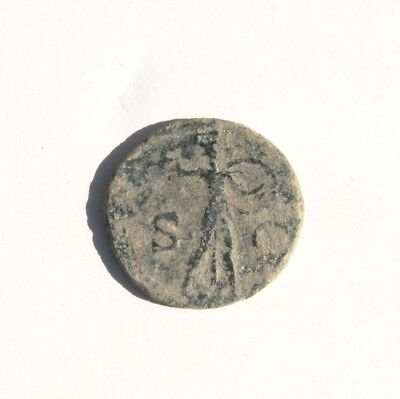 """Claudius I A.D. 41-54 AE As """"Minerva Holding Spear & Shield"""" Spanish Mint #2"""