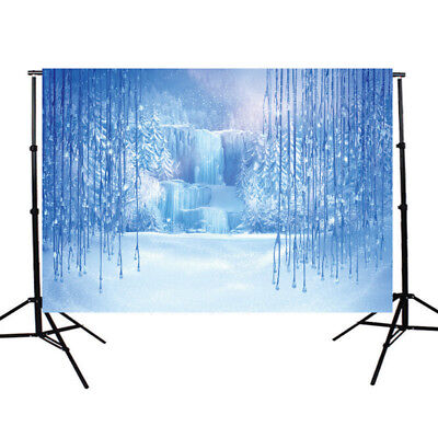 7x5ft Vinyl Ice Frozen World Backdrop Photography Props Photo Background Studio