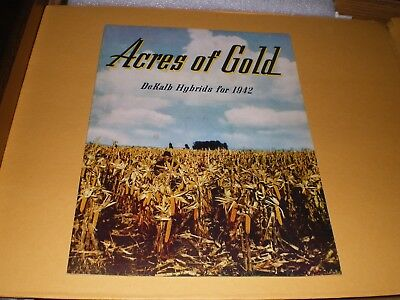 DeKalb Acres of Gold Farm 1942 Hybrids Seed Corn Advertising Booklet Brochure