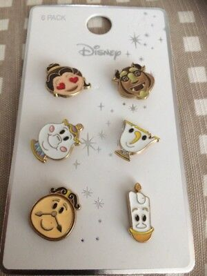Disney Beauty And The Beast Emoji Pin Badges New And Tagged From Primark