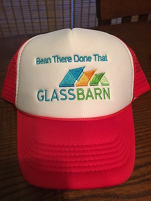 Agriculture Glass Barn Soybean Mesh Trucker Hat Indiana State Fair New