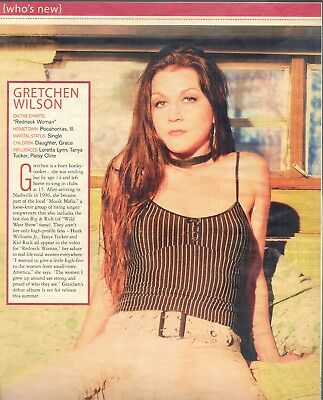 Gretchen Wilson, Country Music Star in 2004 Magazine Print Photo Clipping
