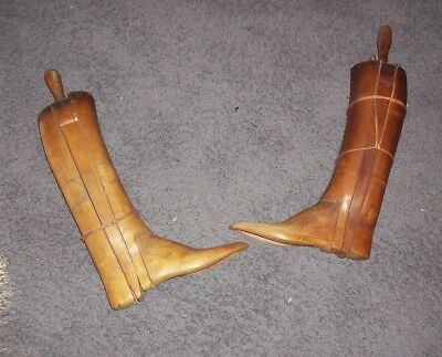 Vintage BOOT TREES Pair Molds-Stretcher-Forms Rt.&Lft. Wooden Military? Must see