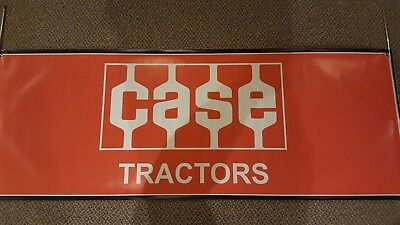 "Vintage J I CASE orange Quality Tractors 60"" Heavy Vinyl Banner USA Flag"