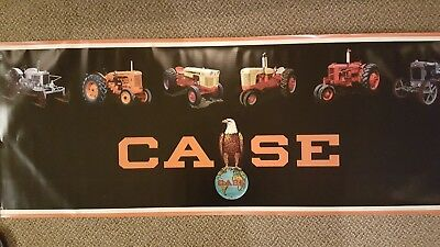 "Vintage J I CASE photo series Quality Tractors 60"" Heavy Vinyl Banner USA Flag"